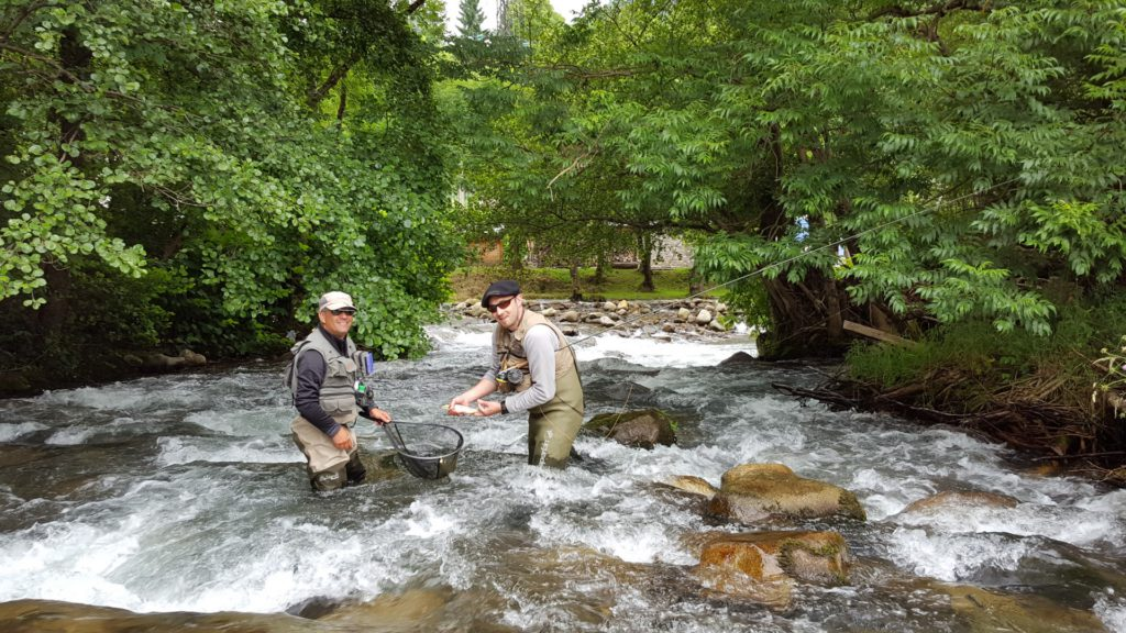 Fly fishing holidays in French and Spanish Pyrénées